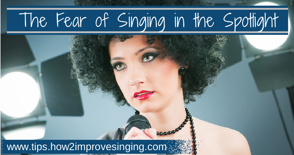 Afraid to sing, stage fright