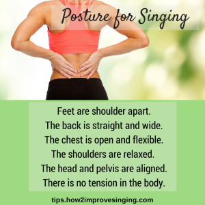 posture for singing