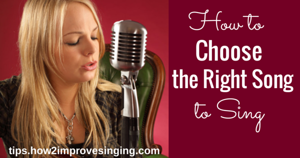 choose the right song, easy songs to sing