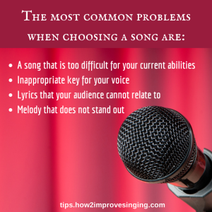 how to choose the right song to sing and common problems in song selection