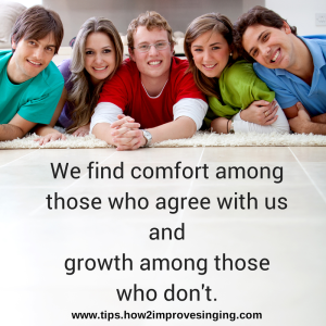 quote about comform and growth