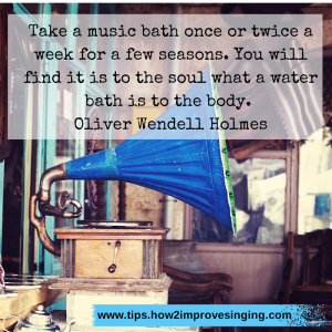 Take a music bath once or twice a week