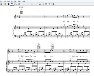 music notes sheet music