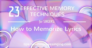 how to memorize lyrics