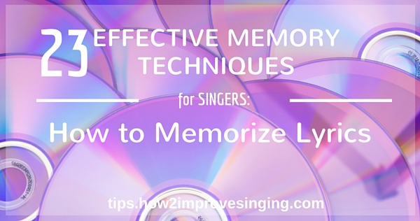 how to memorize lyrics blog post