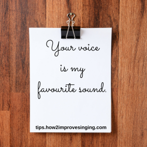 your voice is my favourite sound
