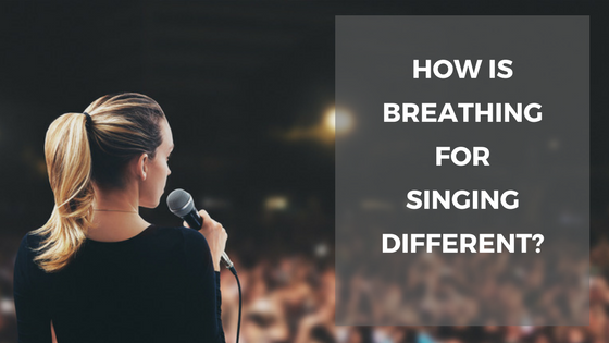 how is breathing for singing different