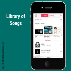apple music library of songs example